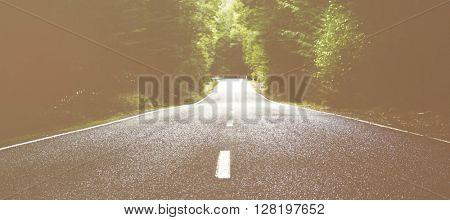 Road Destination Distance Travel Summer Concept