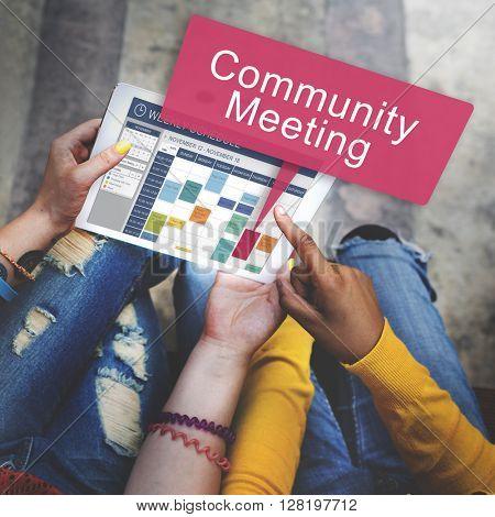 Community Meeting Connection Diversity Unity Concept