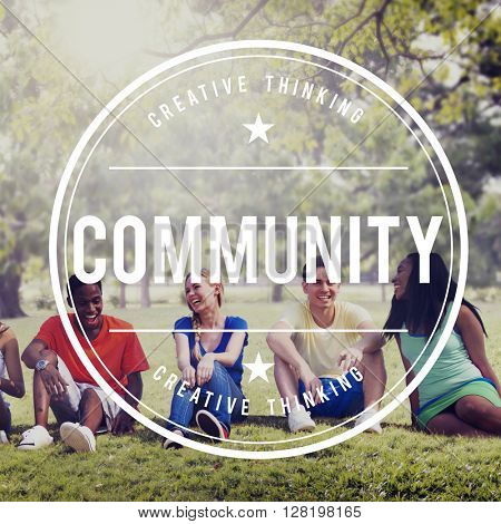 Community Connection Communication Society Concept