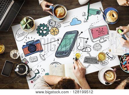 Social Media Networking Data Digital Sharing Concept