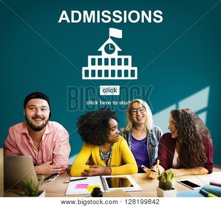 Admissions Education Knowledge University Academic Concept
