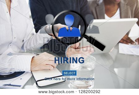 Hiring Human Resources Occupation Recruiting Concept
