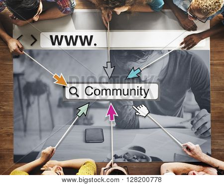 Community Group Website Web Page Online Technology Concept