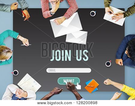 Join Us Apply Hiring Human Resources Company Concept