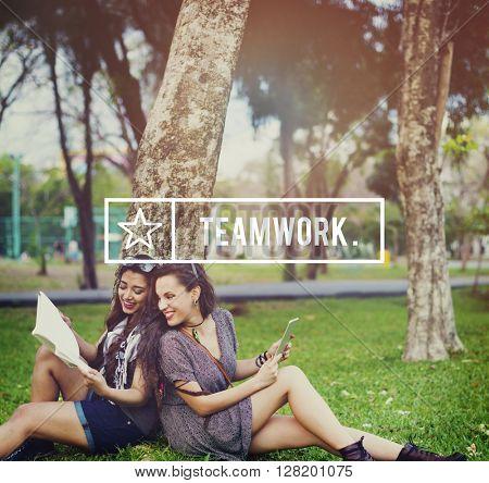 Teamwork Team Collaboration Connection Unity Concept