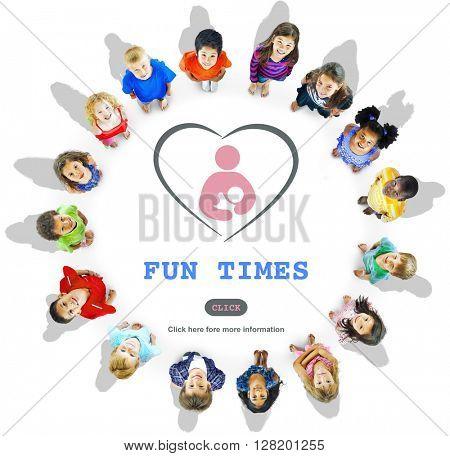 Fun Times Activity Enjoyment Funny Happy Joyful Concept