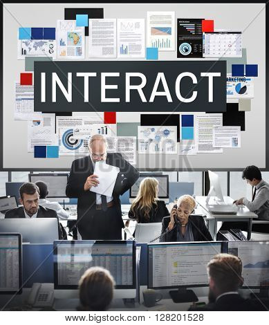 Interact Corporate Future Interacting Interactive Concept