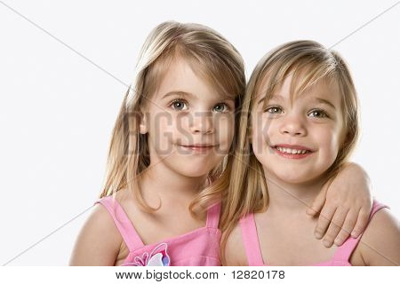 Female children Caucasian twins.