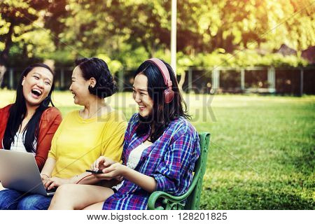 Family Casual Daughter Mother Enjoyment Relax Concept