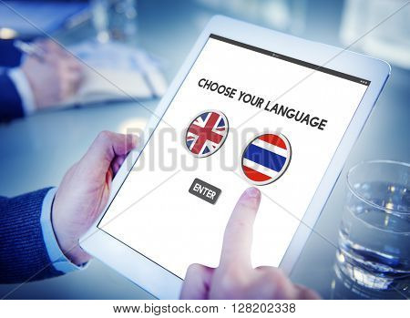 Thai English Language Communication Global Concept