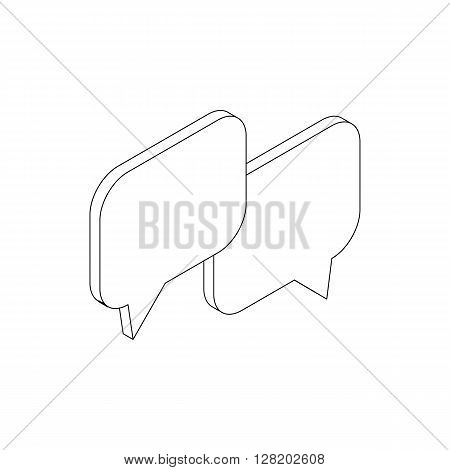 Speach bubles icon in isometric 3d style on a white background