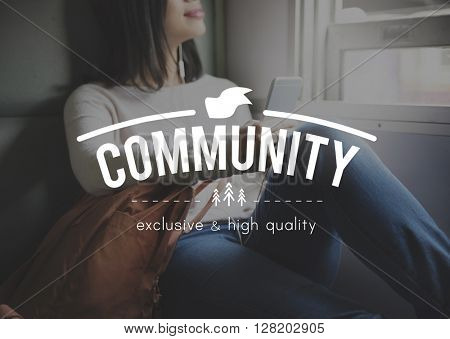 Community Connection Network Togetherness Concept