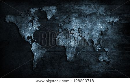 blue and black Map