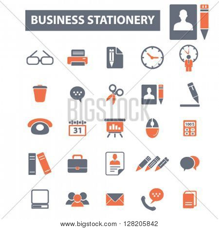 business stationery icons