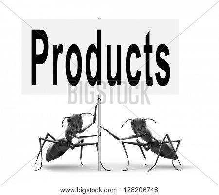 Products for sale at online internet web shop, webshop cataloge road sign billboard