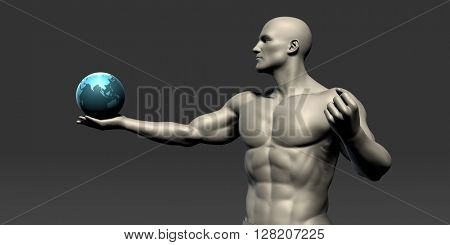 Global Medical Communications as a Abstract Concept Art 3D Illustration Render