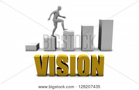 Improve Your Vision  or Business Process as Concept 3D Illustration Render