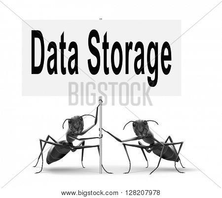 data storage management and mining road sign billboard