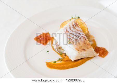 roasted white fish