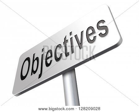 Business Objectives firm statement on vision, mission, values and strategies and strategy planning of a company or business