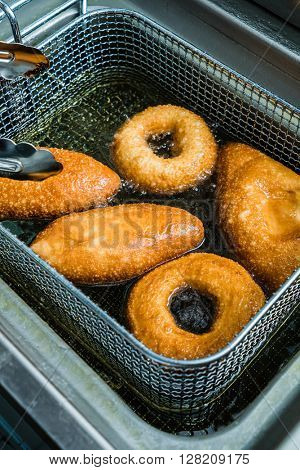 cooking donuts