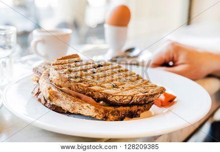 breakfast in the cafe