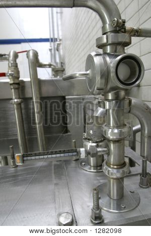 Valves In Dairy Factory
