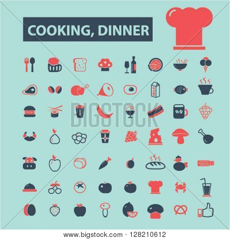 cooking dinner icons