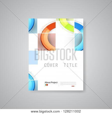 Modern brochure book flyer design template