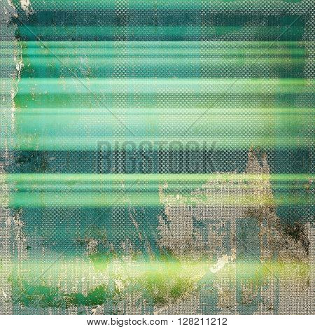 Sharp textured background, aged vintage backdrop with grungy style elements and different color patterns: yellow (beige); gray; green; blue; cyan