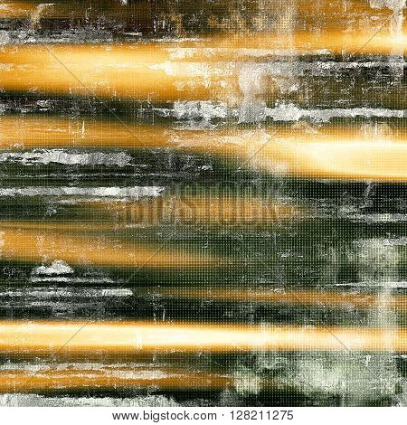 Retro style abstract background, aged graphic texture with different color patterns: yellow (beige); brown; gray; green; black; white