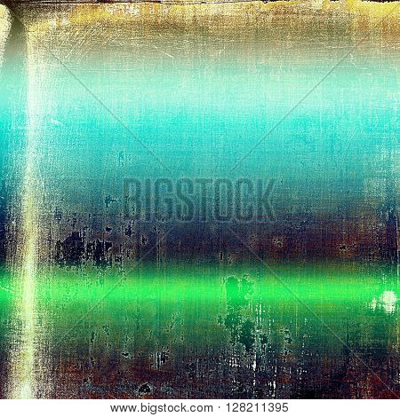 Vintage background with dirty grungy texture or overlay and different color patterns: yellow (beige); brown; green; blue; purple (violet)