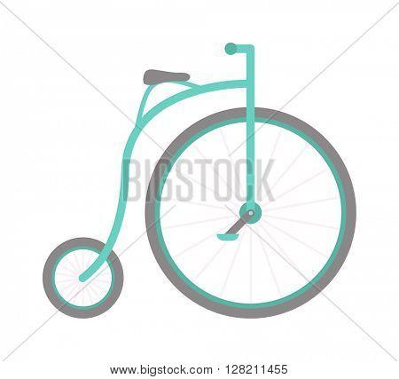 Circus bike vector illustration.