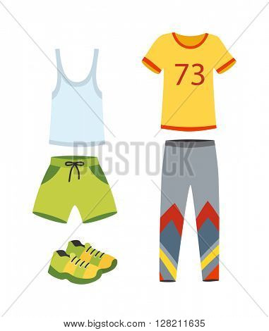 Jogging clothes vector illustration.