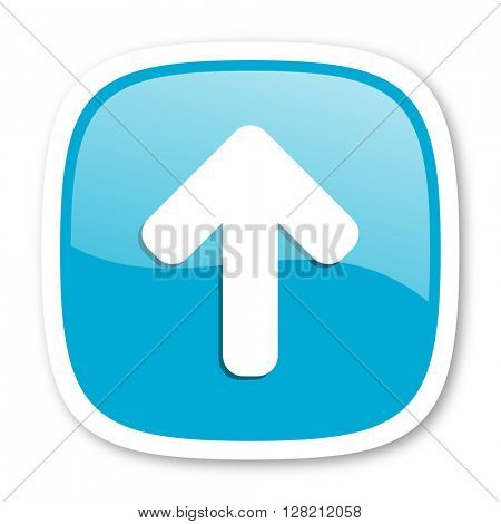 up arrow blue glossy icon