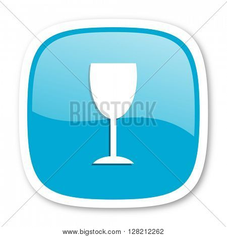 alcohol  blue glossy icon