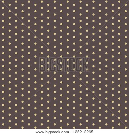 Seamless geometric modern vector pattern. Fine pattern with dotted elements. Brown and yellow pattern. Polka dot pattern. Dotted pattern