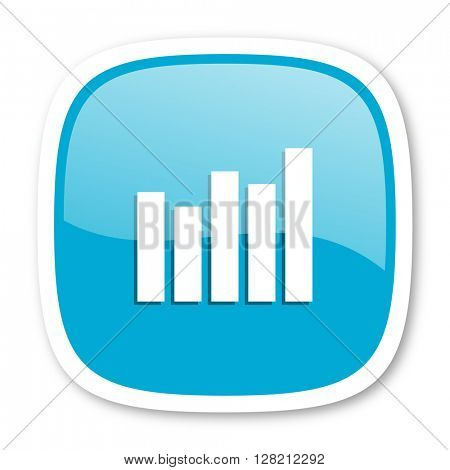 graph blue glossy icon