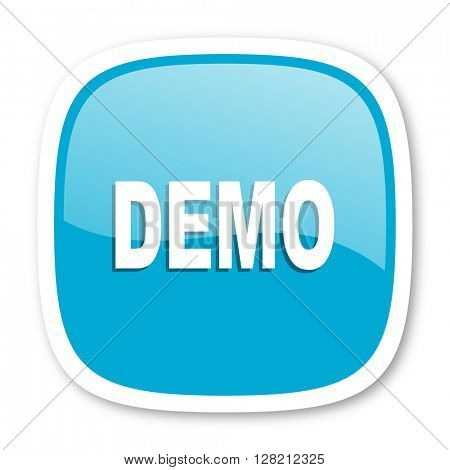demo blue glossy icon