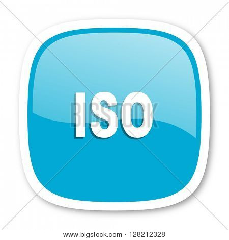 iso blue glossy icon