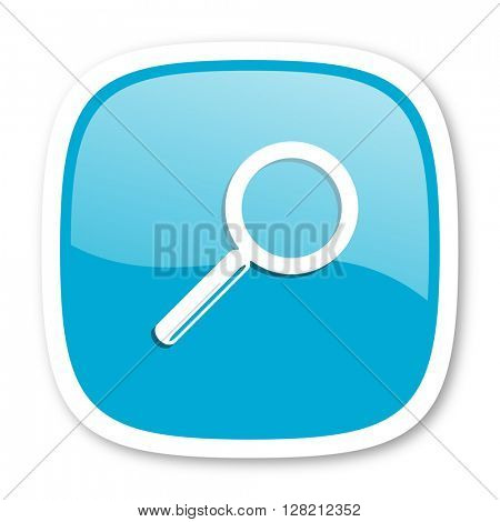 search blue glossy icon