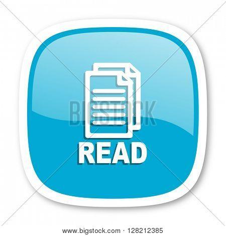 read blue glossy icon