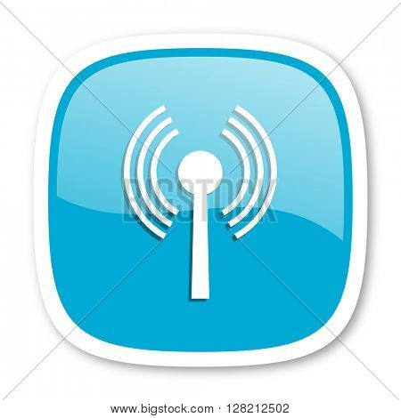 wifi blue glossy icon
