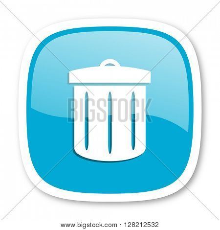 recycle blue glossy icon