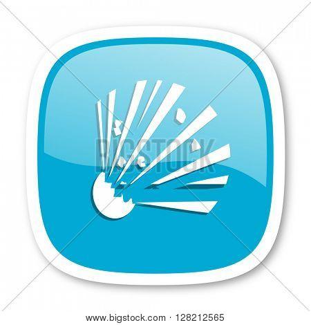 bomb blue glossy icon
