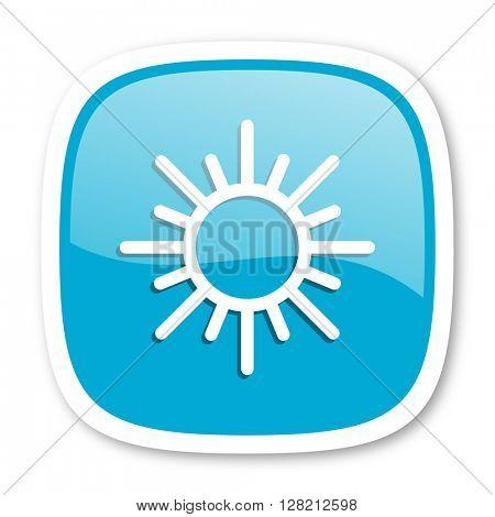sun blue glossy icon