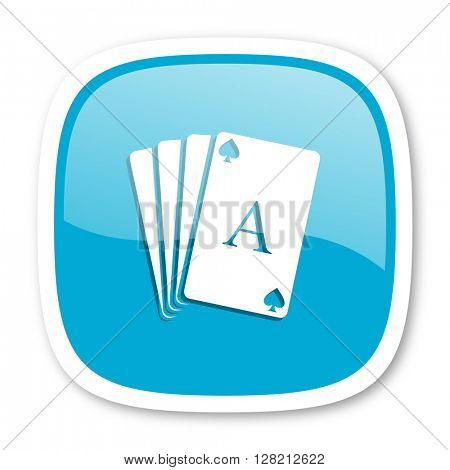 card blue glossy icon