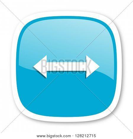 arrow blue glossy icon