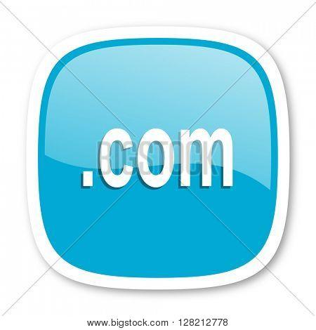 com blue glossy icon
