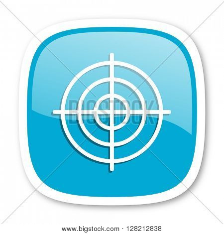 target blue glossy icon